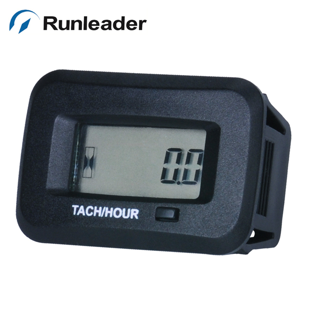 Runleader Waterproof Digital Rpm Tachometer Hour Meter For Chain Saw Lawn Mower T Sprayer Tractor Trailer
