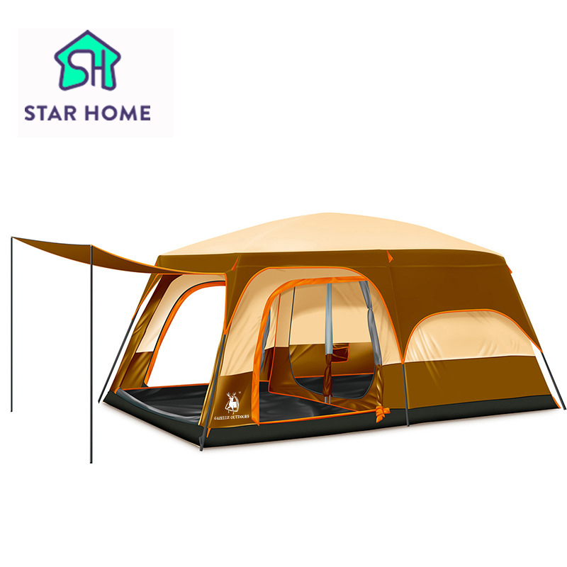 Star Home 2016 Super Big Family Camping Tent For 8 Party Tent Beach Camping Tent Family Party With Breathable Nets 300*430*210cm