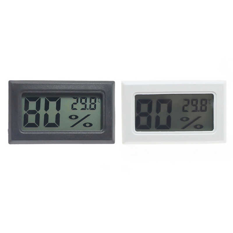 Hoomall Humidity Sensor Backlight LCD Temperature  Thermostat Outdoor Weather Station Digital Thermometer No Battery