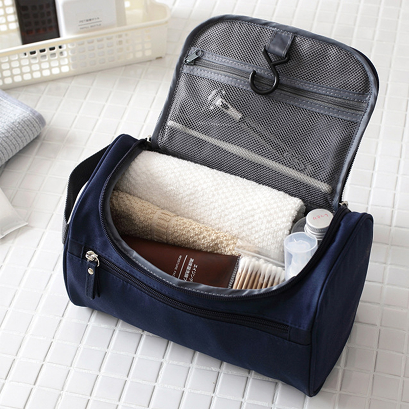 Makeup Bag Cheap Women Bags Men Large Waterproof Nylon Travel Cosmetic Bag Organizer Case Necessaries Make Up Wash Toiletry Bag(China)