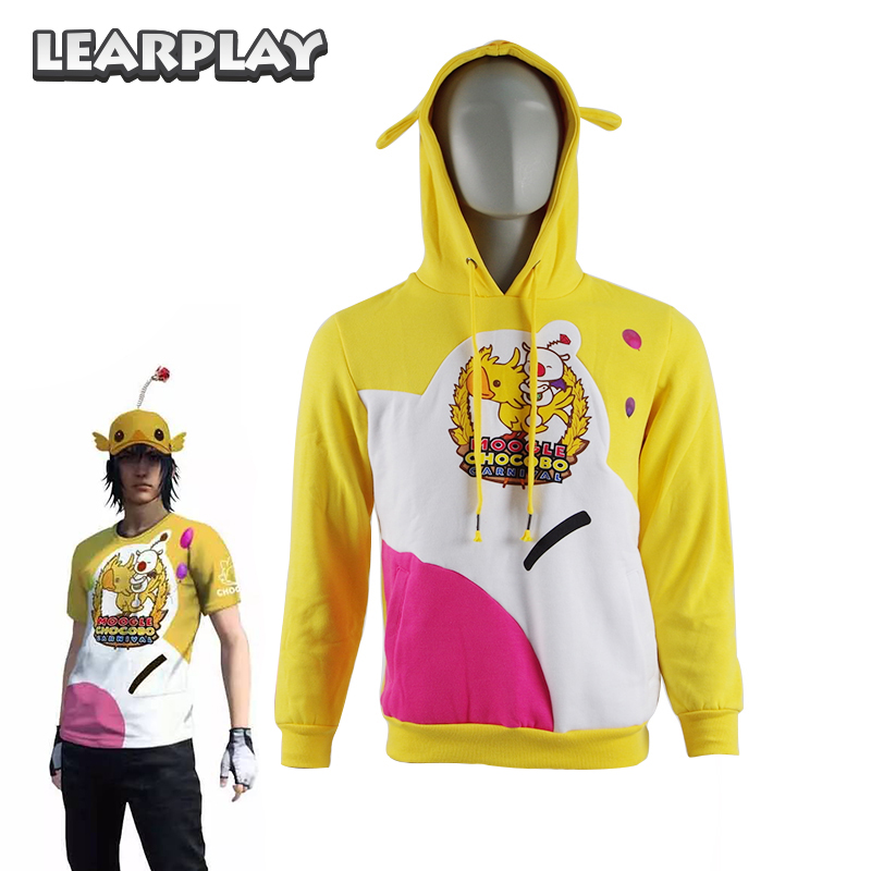 Moogle Chocobo Hoodies Final Fantasy Xv Noctis Choco Mog Coat