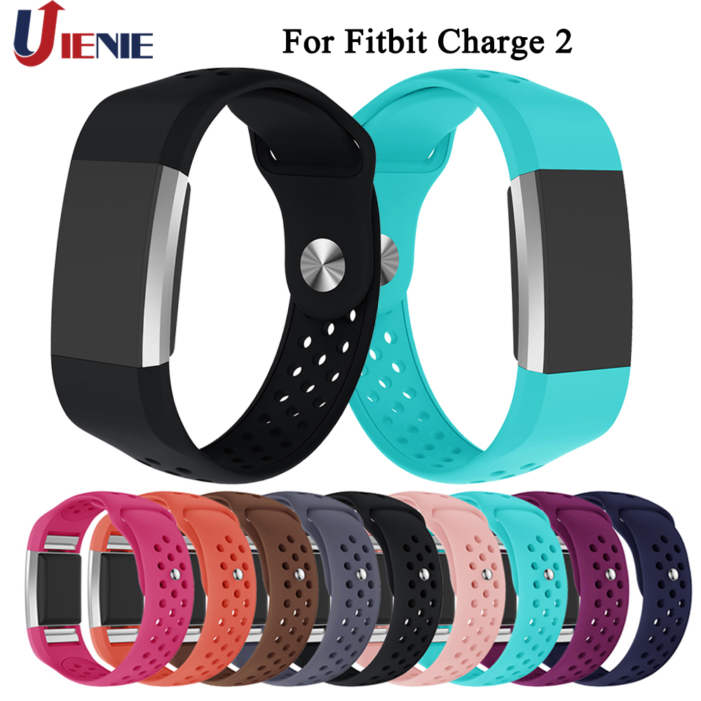 For Fitbit Charge 2 Silicone Watchband Strap Smart Watch Band Fashion Colorful Sports Replace Band Wrist Strap Bracelet Band