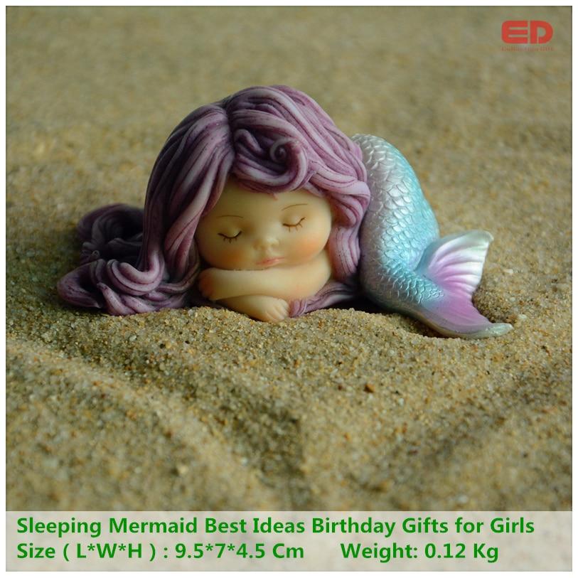 Кожен день колекції хорошої якості Симпатична смола русалка Валентина подарунок Кращі ідеї подарунки на день народження для дівчаток