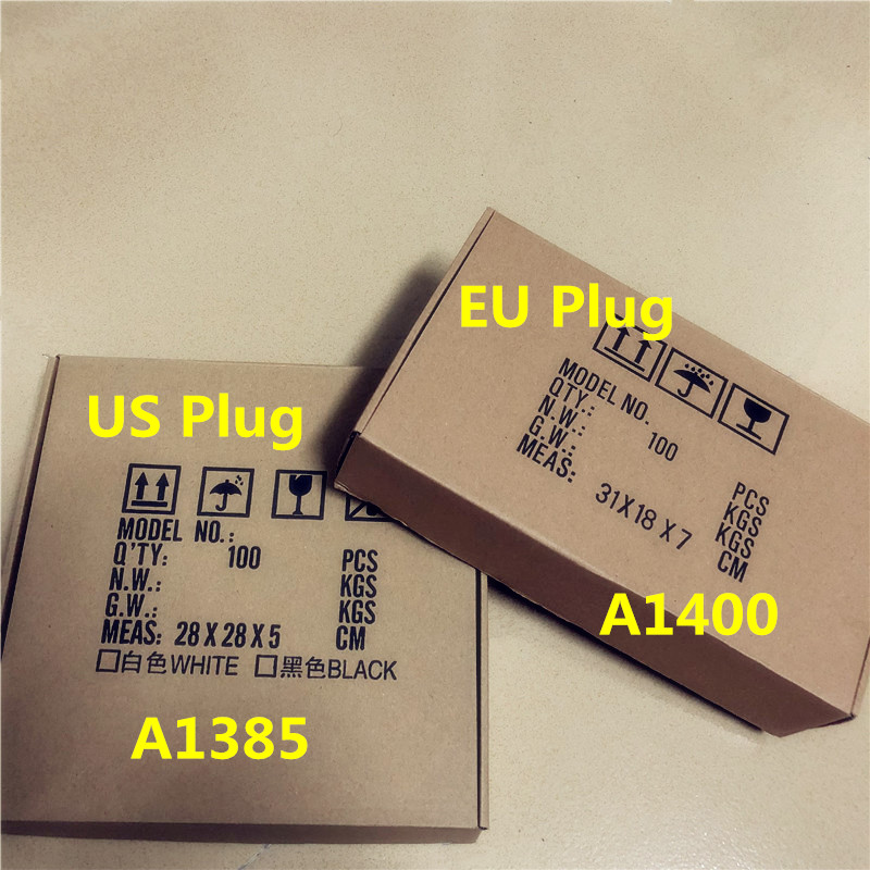 10pcs/lot For A1400 A1385 5V 1A High Copy EU US Plug USB Wall Charger AC Power Adapter For Iphone 8 7 6 6S Plus 5 5S EU US Plug