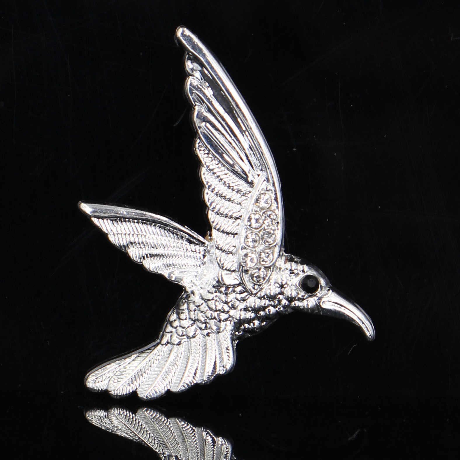 Terbang Yang Indah Hummingbird Bros Anak-anak Perhiasan Mewah Fashion Anak Hewan Kerah Pin dan Bros Aksesoris Pakaian