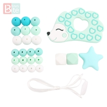 Bite Bites 1Set DIY Silicone Baby Teether Silicone Rodents Hedgehog Pendant Nurs