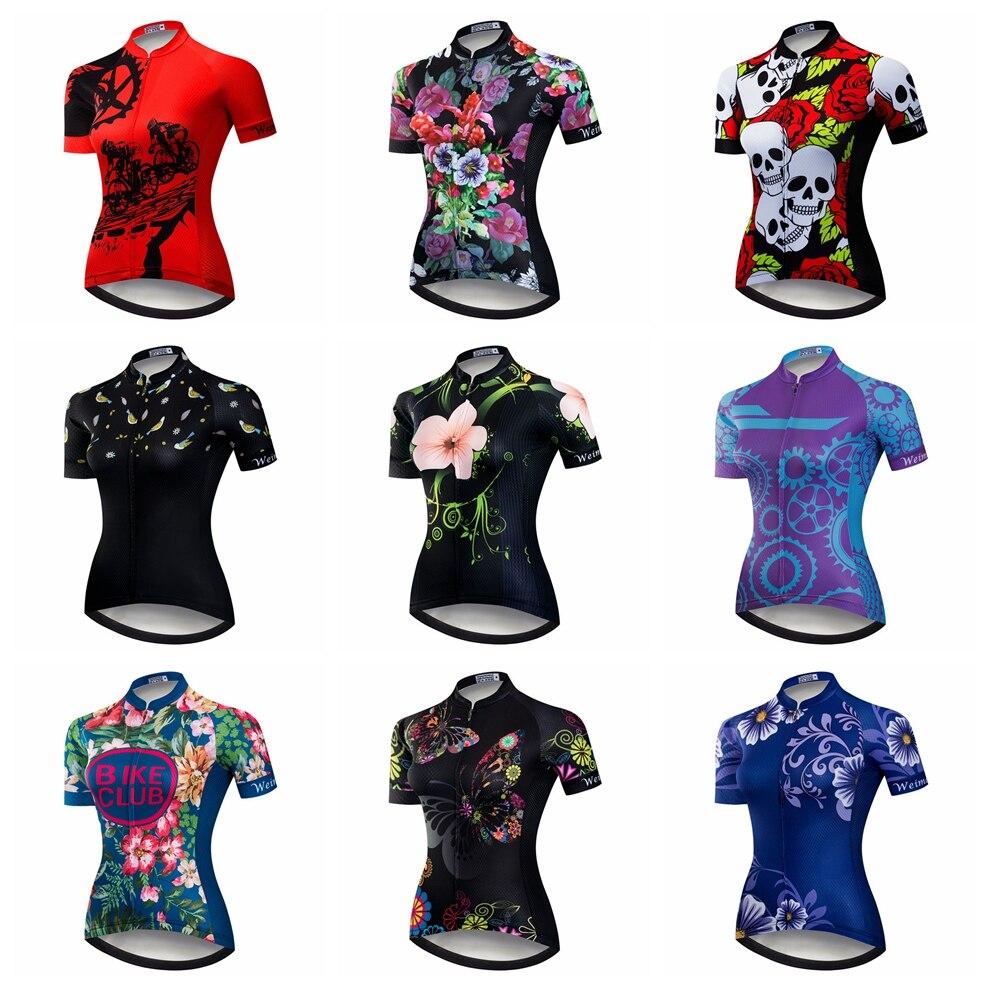 10a91080db 2018 Mulheres Camisa de Ciclismo Mtb Mountain Bike Camisa Ropa ciclismo  Vestir Roupas de Ciclismo esportes Respirável Vermelho top Crânio Azul de  verão