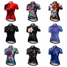 b557e3eac 2019 Cycling Jersey Women Mtb Mountain Bike Shirt Red Breathable Ropa  Ciclismo Wear Cycling Clothes sports top Skull summer Blue