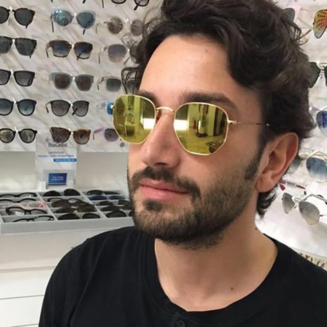 Vintage Mode Polarisées Hexagonale lunettes de Soleil Femmes 2016 Nouveau  Concepteur de Marque Hommes Pêche En d869b9be6513