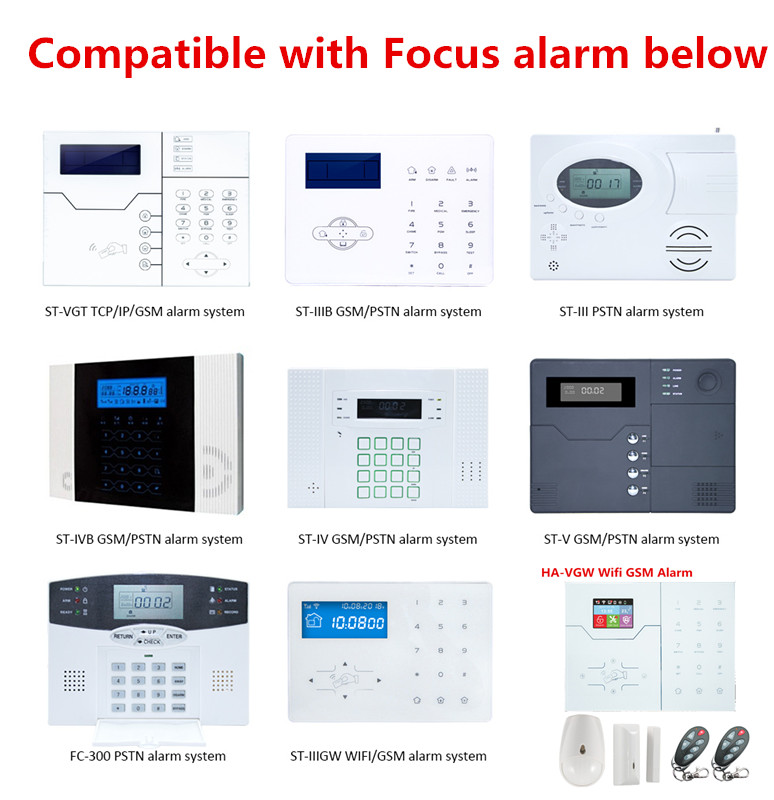HTB1Kr5LXzDuK1Rjy1zjq6zraFXa8 - Focus 433Mhz Or 868Mhz option Wireless two Way Keypad With LCD back light USB recharge working with HA-VGT Alarm System