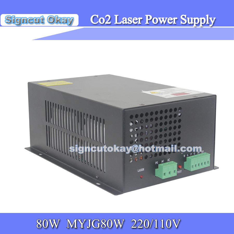 80W/100W   Laser Power Supply Laser Source Model MYJQ  AC 220V/110V  Used For EFR Tube /Weiju Tube Co2 Laser Tube 80W/100W