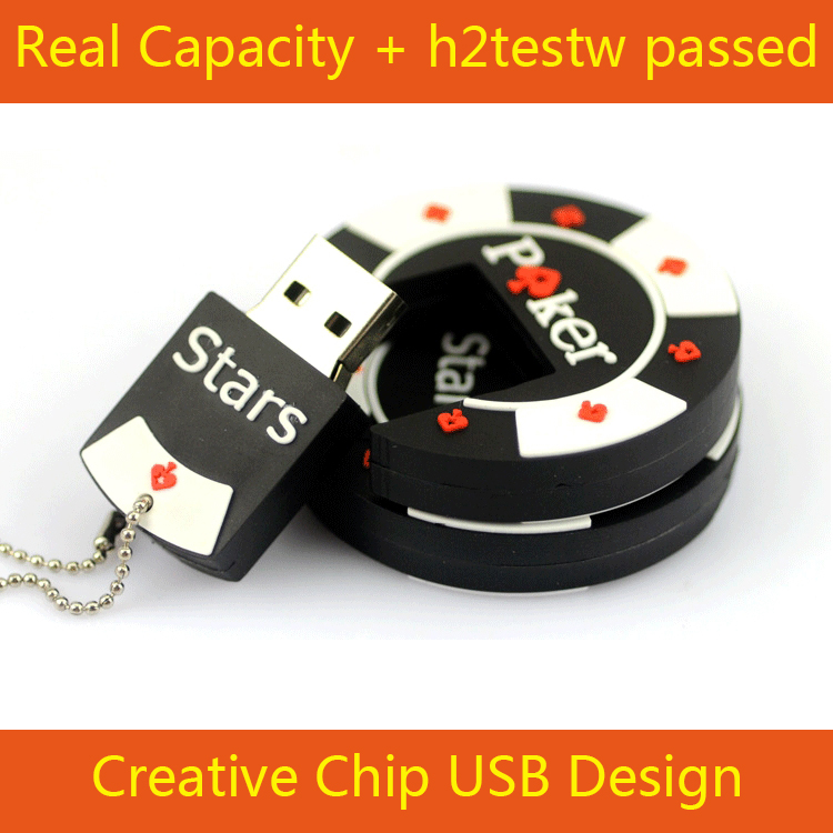 Pen Drive 32GB 64GB 16GB 100% Full Capacity POKER STAR CHIP USB Flash Drive Pendrive Car Key Memory Stick Flash Card 3.0 512GB