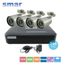 CTV 4CH 960 H В Режиме Реального времени HDMI H. 264 DVR Система Видеонаблюдения Пуля Камера 700TVL Водонепроницаемый Открытый Безопасности Домашней Безопасности