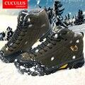De alta calidad del comercio Exterior de los hombres solteros originales de alta ayuda a prueba de agua al aire libre botas de montaña zapatos de trekking unisex