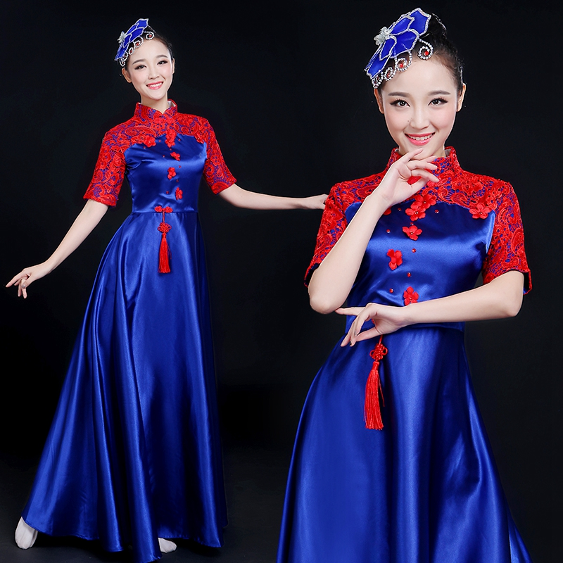 2018 autumn classical woman traditional chinese folk dance dance costumes for women girls china national ancient