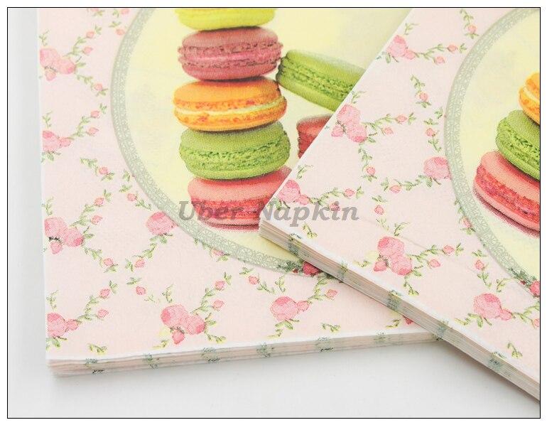 [RainLoong] Macaroon Cakes Papierservietten Festliche & Party - Partyartikel und Dekoration - Foto 3