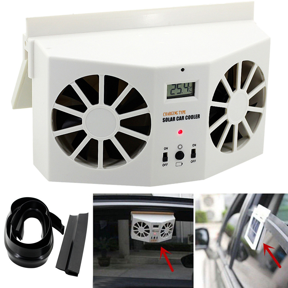 2017 New Solar Powered Car Window Air Vent Ventilator Mini Air Conditioner Cool Fan Low Noise Summer Car Air Conditioner
