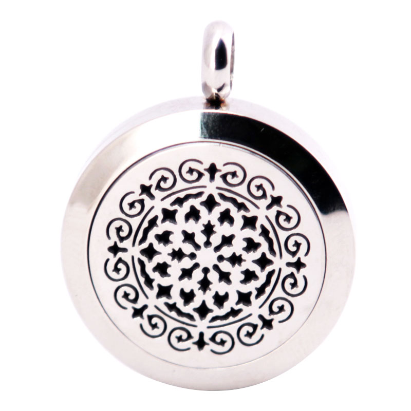 316L Stainless Steel New Style Necklace Pendant Aroma Essential Oil Diffuser Lockets Include 10pcs Felt Pads as Gift