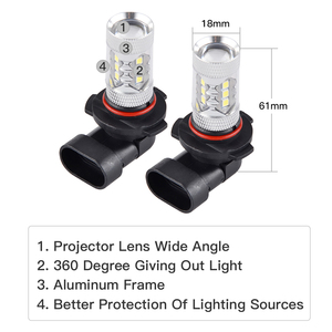 Image 2 - NICECNC H10 Super White LED Headlight Bulb Car DRL Fog Light For Can Am ATV Can Am Maverick Commander Outlander Spyder Renegade