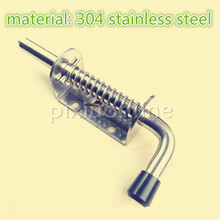 1pc DS338b Material 304 Stainless Steel Spring Door Bolt Metal Lockset DIY Furniture Install Parts Italy Spain