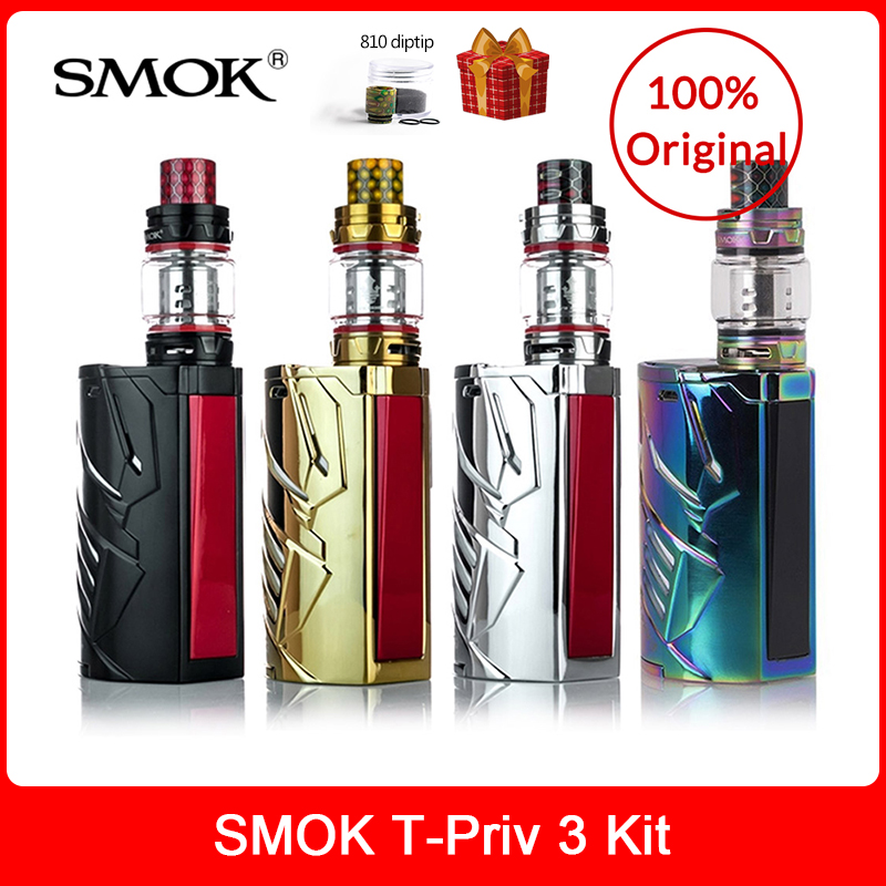 Original SMOK T-Priv 3 Kit 300W with TFV12 Prince Tank 8ml + Q4/T10 Coils For Electronic cigarette smok t priv 3 mod box kit