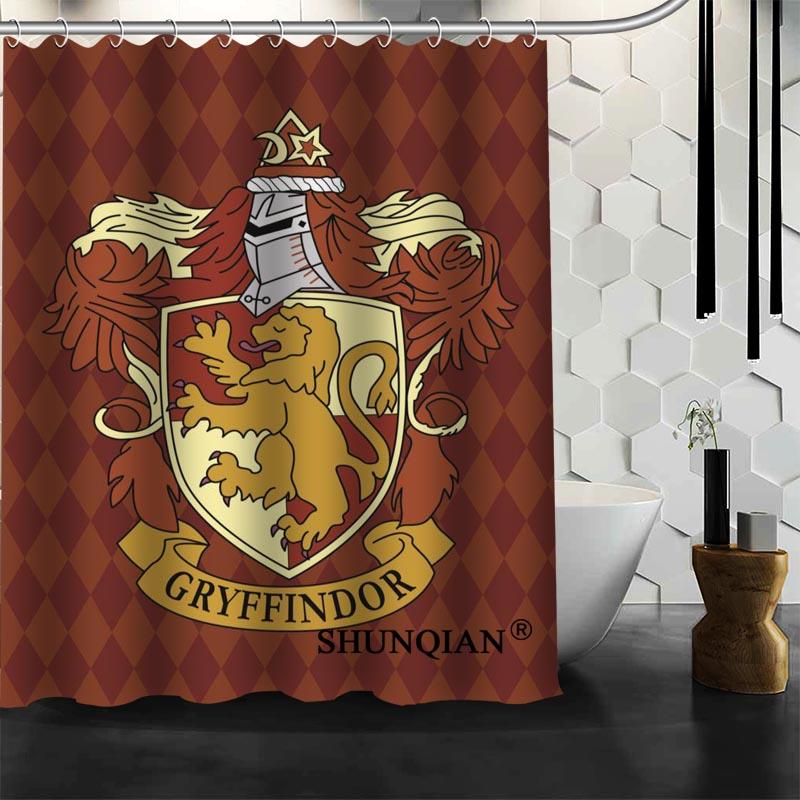 Best Nice Custom Harry Potter Hogwarts Shower Curtain Bath Curtain Polyester Fabric Bathroom Curtain MORE SIZE A6.1-46
