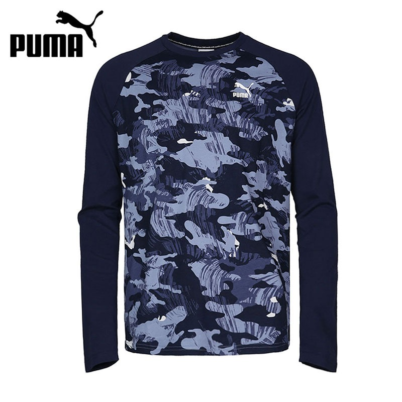 Original New Arrival 2018 PUMA Archive Graphic Raglan LS Men's T-shirts Long sleeve Sportswear tile printed drawstring raglan sleeve hoodie