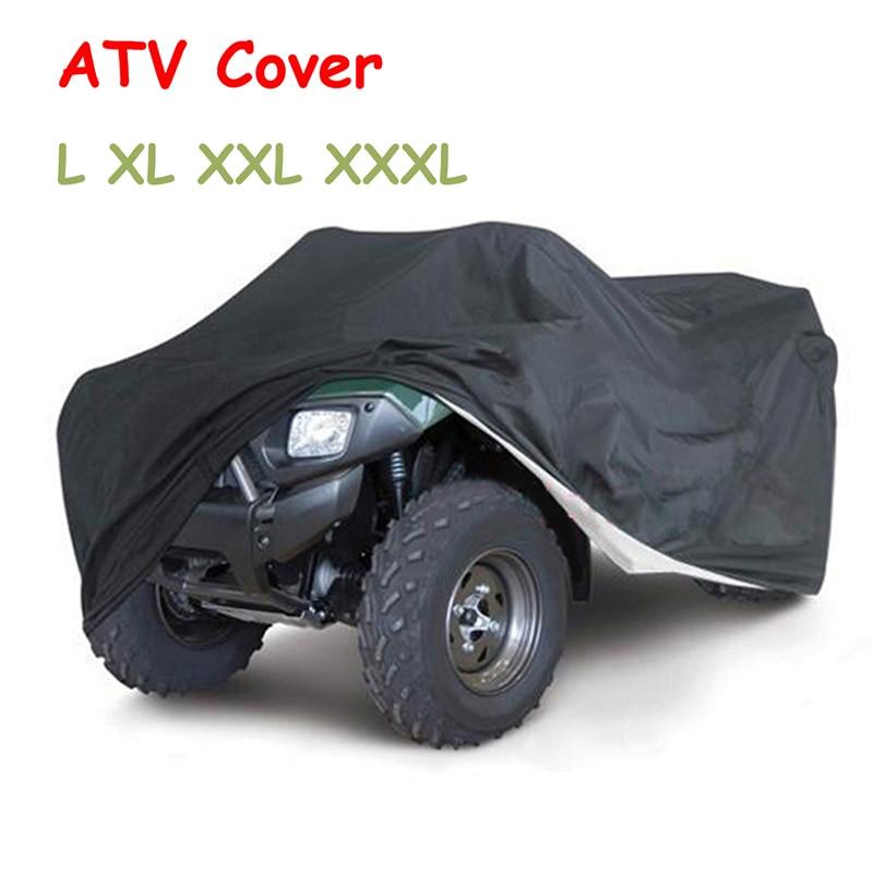 ATV Storage Cover Water Resistant Nylon Cover Black