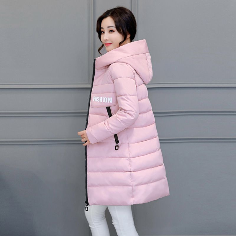 2017 Winter Women Jacket New Fashion Thick Warm Medium long Down Cotton Coat Long sleeve Slim Big yards Female Parkas LADIES269