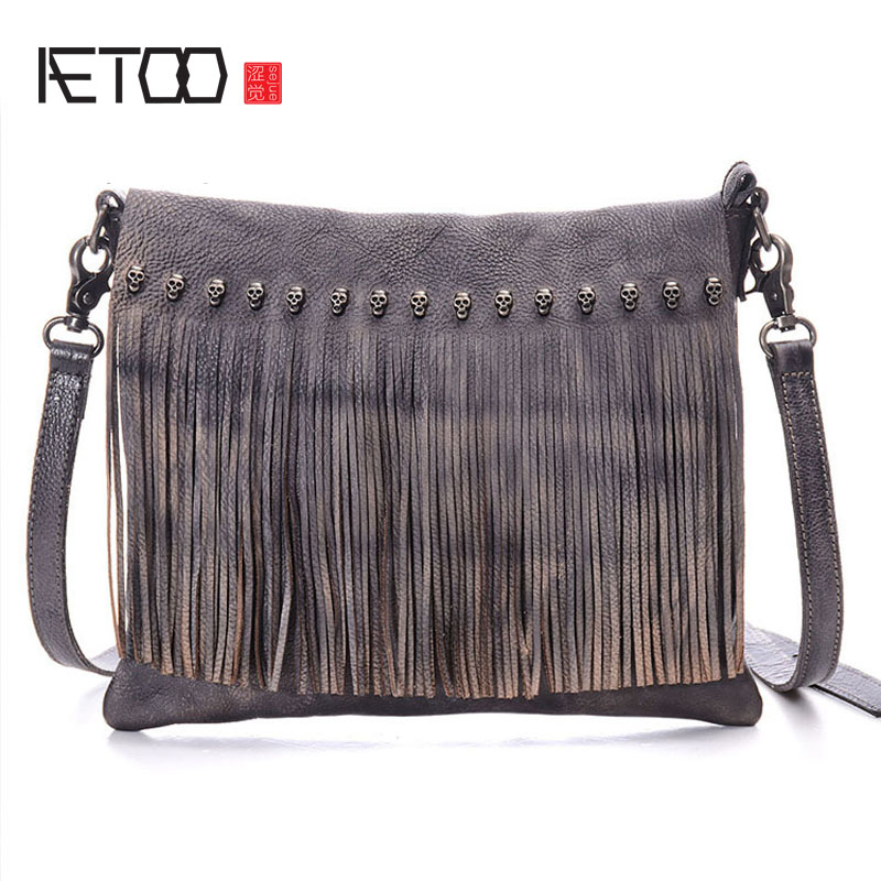 AETOO Europe and the United women States retro handbag hand-wiping planted tanning oblique shoulder bag