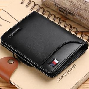 Image 2 - WILLIAMPOLO erkek cüzdan erkek slim kredi kart tutucu Bifold hakiki deri mini çoklu kart Case yuvaları inek derisi deri cüzdan yeni
