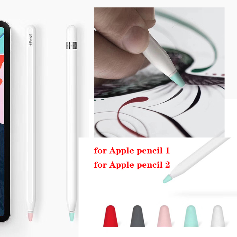 For Apple Pencil Case Stylus Pen Silicone Case For IPad Pencil 2 Cap Tip Cover For Pencil Touch Pen Stylus Pouch Sleeve Cover