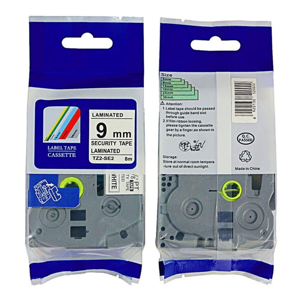 2PK Compatible P-touch TZ-D21 TZe-D21 Black on Fluorescent Green Tape 9mm*5m