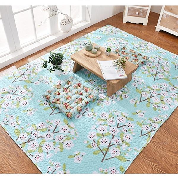 Slug Trail On Living Room Carpet: Japan Style Tatami Door Mats Cotton Baby Crawling Mat