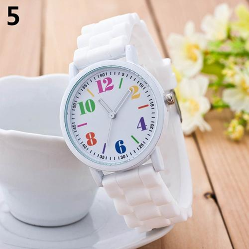 Kids Girls' Fashion Silicone Strap Arabic Number Sport Casual Quartz Wrist Watch Kids Watches Reloj Reloj Infantil Analog Alloy