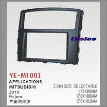 For Mitsubishi Pajero 2006~2015 Car Stereo Radio ABS Fascia Plate Panel Frame Kit / Stereo Facia Surround Install Trim Fit Dash