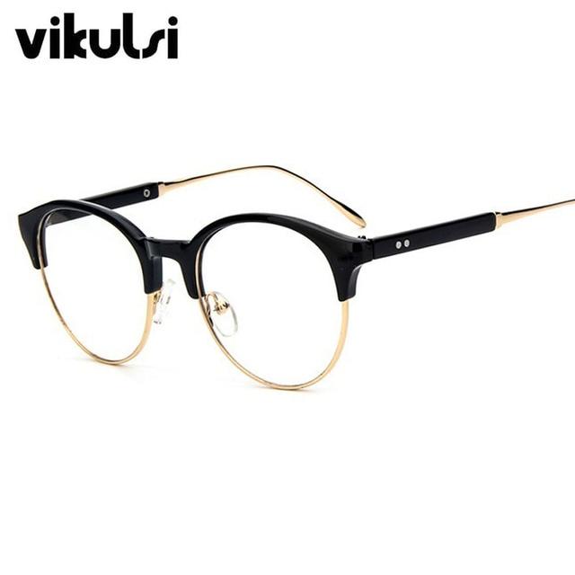 a730e6869a5 Ladies Vintage Half Frame eyewear Eyeglasses Cat Eye Glasses Optical Frame  Points Eye Glasses Frames For Women oculos de grau