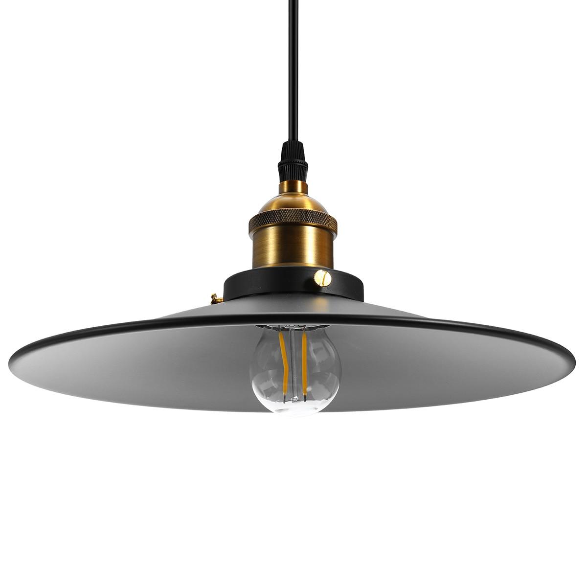 Vintage Metal Iron Pendant Lamp Ceiling Retro Chandelier Light For Garage Living Room Restaurant Bar Decorative Indoor LED Light