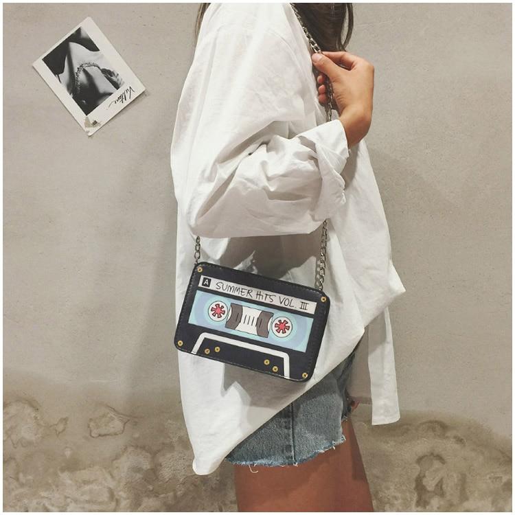 Bolsa Divertida Fita Cassete,bolsa fita cassete
