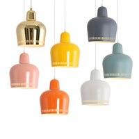 Nordic кулон НЛО свет Dia.40cm домашнего освещения современный подвесной светильник из металла абажур крышка ПК светодио дный лампы Спальня Кофе