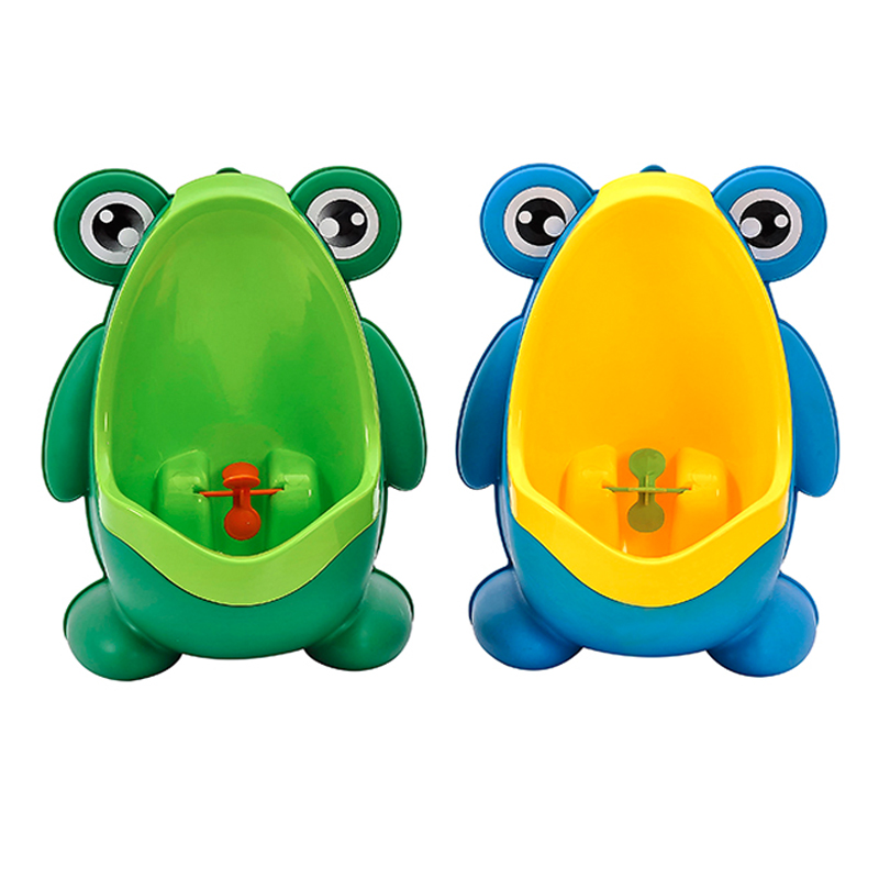 2 Colors Baby Urinal Frog Shape Vertical Wall-Mounted Pee Convenient Cute Animal Boy's Potty Urinal Standing Toilet