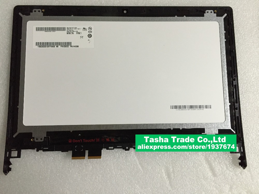 for Lenovo Flex 2 14 14D Assembly Display LCD +Touch Screen Digitizer with frame 1366*768