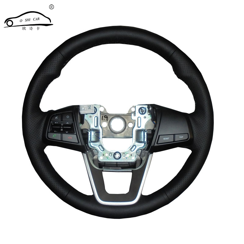 Artificial Leather car steering wheel cover for Hyundai ix25 2014 2015 2016 Creta 2016 2017/Custom made dedicated Steering-Wheel