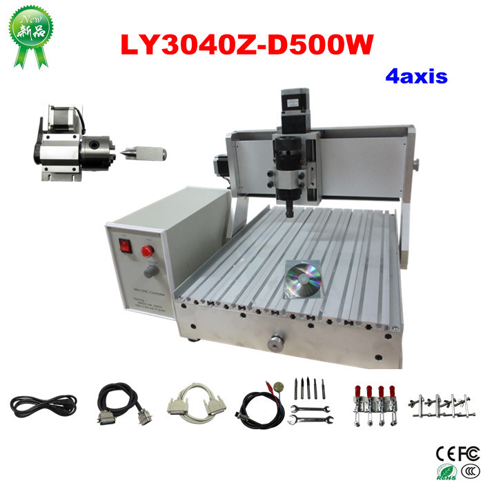New White Controller Series LY CNC 3040Z-D500W 4Axis 110V/220V Universal CNC 3D Laser Engraving Machine Price algemarin 500ml