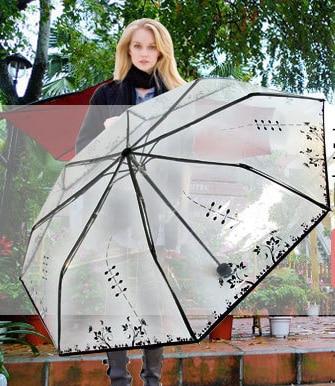 투명 플라스틱 PVC 나비 장미 꽃 패션 맑은 비오는 - 가정 용품 - 사진 5