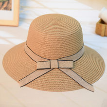 5adb7b1267e6a Fashion Women s Casual Sun Hat Straw DIY Woven Beach Hat Summer Hats For  Women Ladies Straw