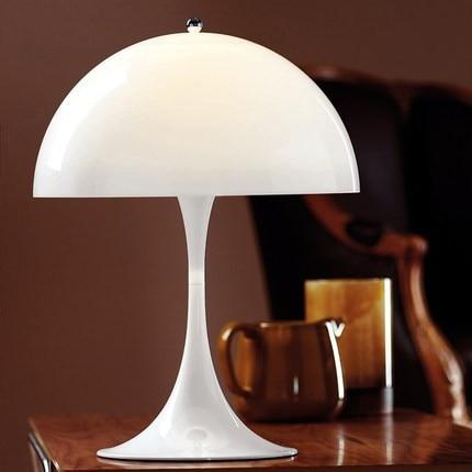 Müasir Panthella Masaüstü Lampa Ağ Masa Çırağı Yaşayış - Daxili işıqlandırma - Fotoqrafiya 3