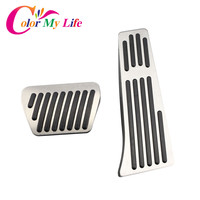 Color My Life Aluminum Car Gas Pedal Brake Pedal Cars Pedals Cover For Bmw 3 Series