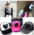 Love all-match doodle mesh cap spring and summer cap truck cap sun-shading hat female