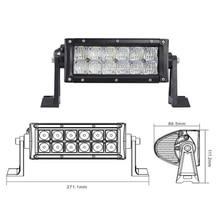 цена на ECAHAYAKU 12V 24V 5D LED Light Bar 7.5 Inch 60W Driving Light Flood Spot led lights for Jeep Off-road SUV Truck Car ATVs Boats